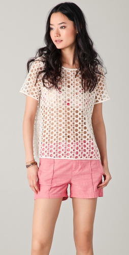 Madewell Dotty Lace Top