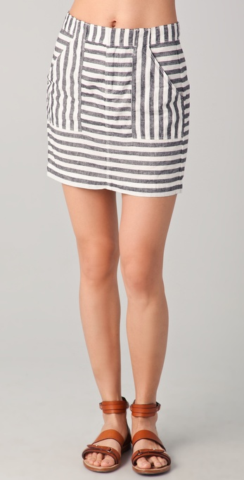 Madewell Striped Short Skirt