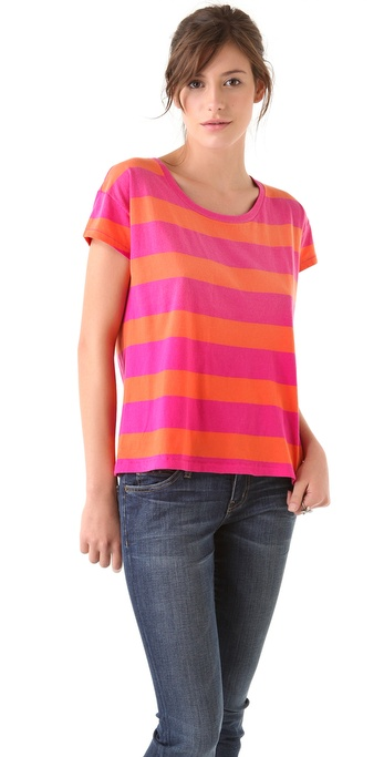 Madewell Bright Rugby Striped Lucas Tee