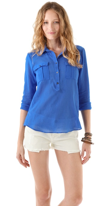 Madewell Shirt Utility Popover Top