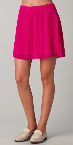 Madewell Pleated Party Skirt