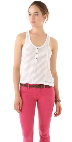 Madewell Arner Blocked Handkerchief Racer Back Tank