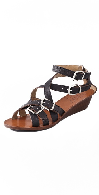 Madewell Strappy Mini Wedge Sandals