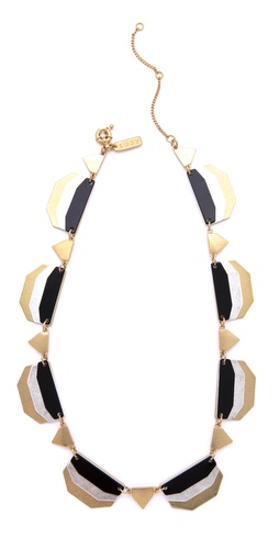 Madewell Neutral Colorblock Enamel Necklace