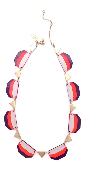 Madewell Colorblock Enamel Necklace
