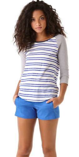 Madewell Striped Raglan Baseball Tee