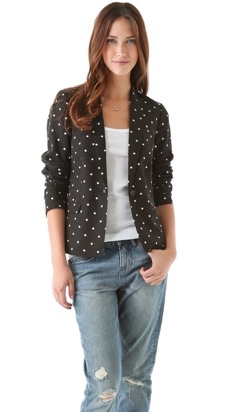 Madewell Short Dotted Garcon Blazer