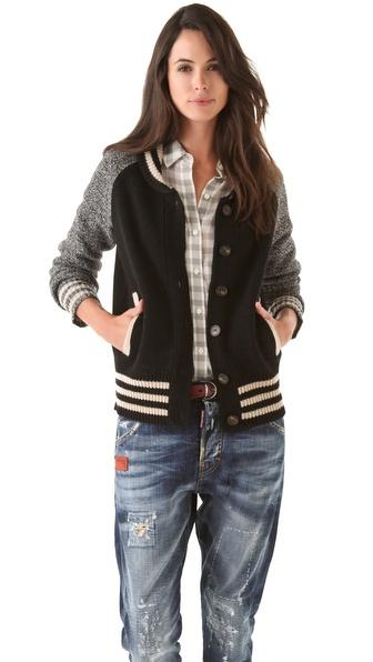 Madewell Varsity Cardigan Sweater