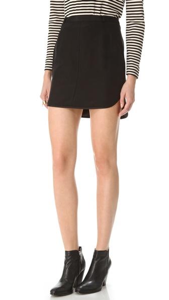 Madewell Stella Tuxedo Skirt