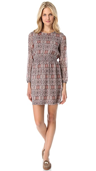 Madewell Print Silk Dress