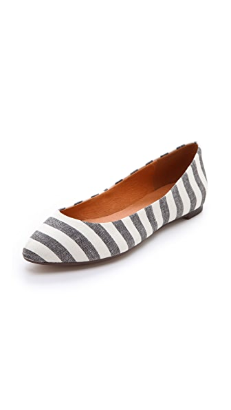 Madewell The Sidewalk Skimmer Flats in Porchstripe