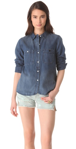 Shop Madewell Denim Boy Shirt and Madewell online - Apparel,Womens,Tops,Buttondown, online Store