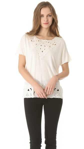 Madewell Quinn Eyelet Cutout Knit Top