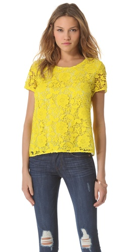 Madewell Lace T-Shirt at Shopbop.com