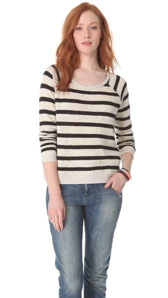 Madewell Striped Raglan Sweater