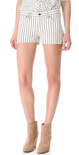 Madewell Striped Cutoff Shorts