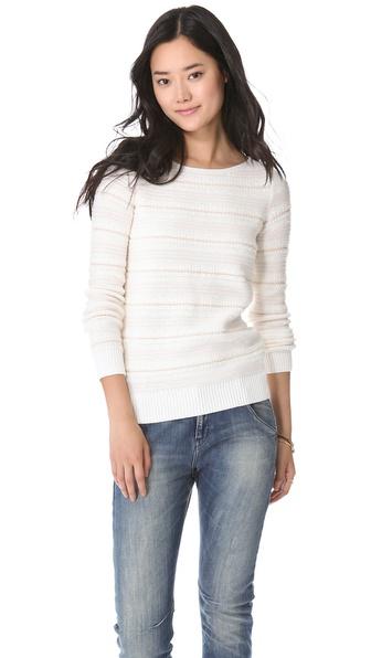Madewell Seashell Textured Pullover