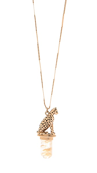 Madewell Cheetah Pendant Necklace