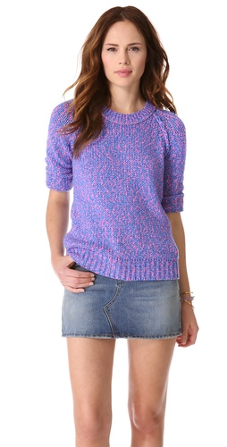 Madewell Neon Marled Pullover