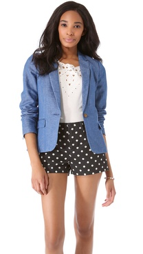 Madewell Washed Chambray Blazer