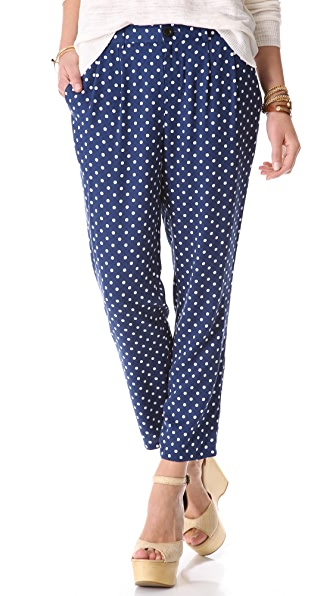 Madewell Draped Dot Pants