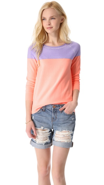 Madewell Colorblock Plaited Pullover