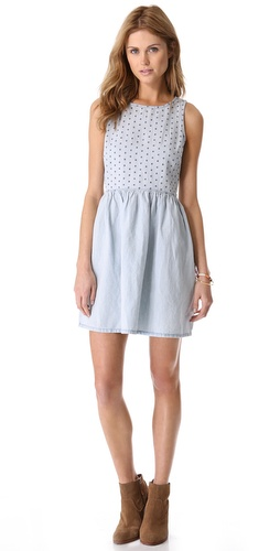 Madewell Chambray Eyelet Dress at Shopbop.com
