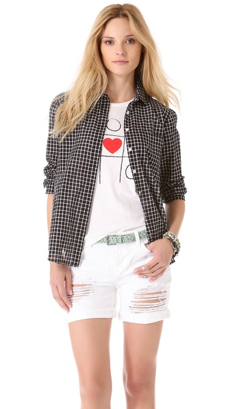 Madewell Ex Boyfriend Plaid Shirt