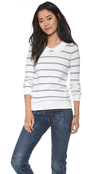 Madewell Sweet Tea Striped Pullover