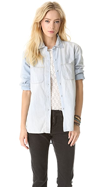 Madewell Perfect Chambray Ex-BF Shirt