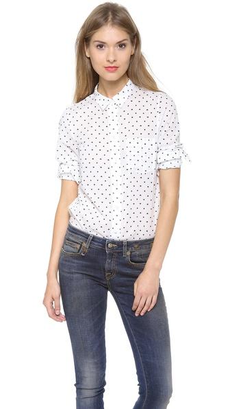 Madewell Heart Dot Eden Boy Shirt