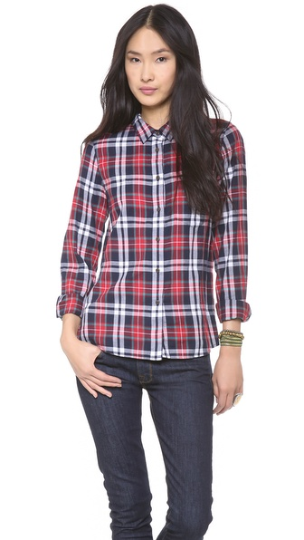Madewell Multi Plaid Eden Boyshirt