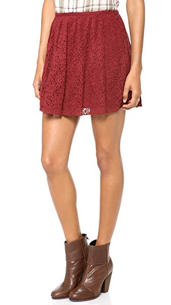 Madewell Lace Pleated Miniskirt