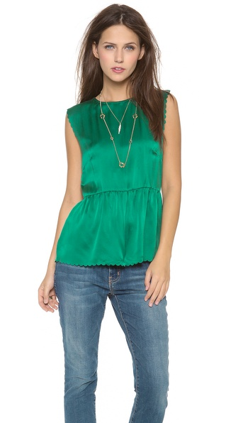 Madewell Scallop Peplum Top