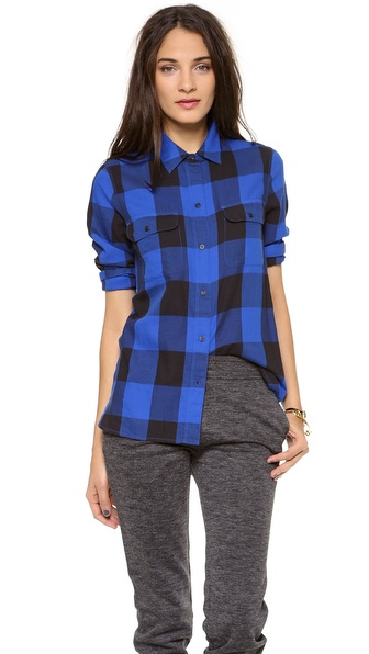 Madewell Buffalo Check Ex BF Shirt