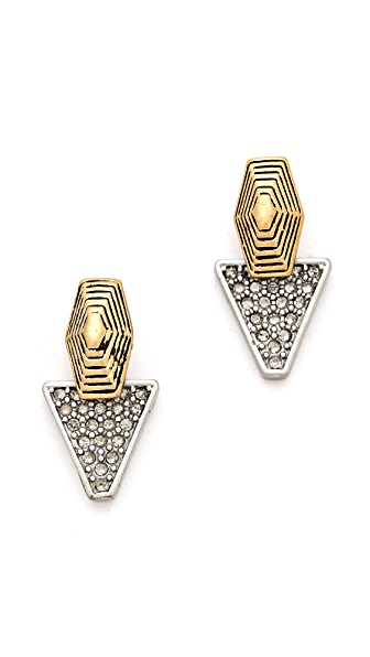 Madewell Etched Pave Earrings