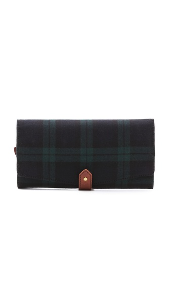 Madewell Jewelry Roll in Dark Plaid