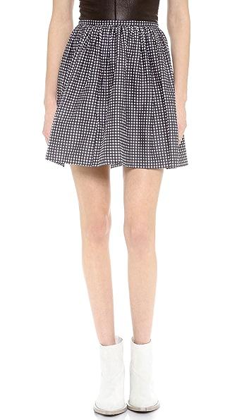 Madewell Gingham Shirred Skirt