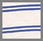 Pure White/Blue Stripe