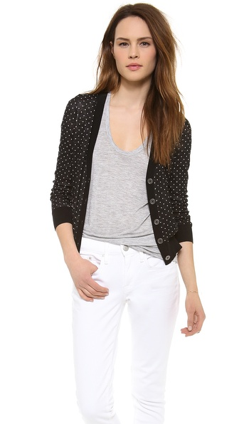 Madewell Pin Dot Cardigan