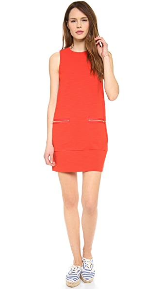 Madewell Sleeveless Zip Shift Dress