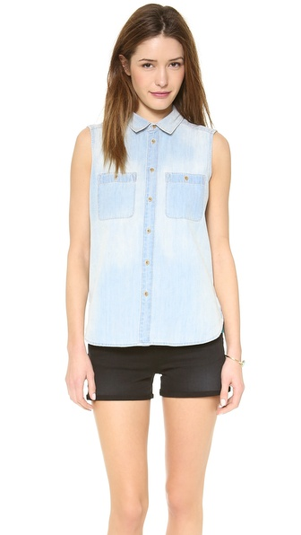 Madewell Sleeveless Chambray Top - Sunflare at Shopbop / East Dane