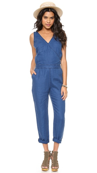 Madewell Crossback Chambray Jumpsuit - Dark Chambray at Shopbop / East Dane