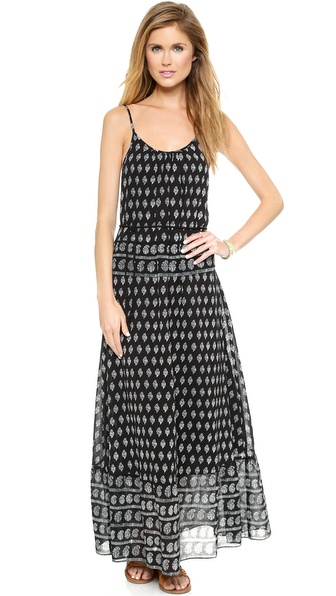 Madewell Moroccan Floral Maxi Dress