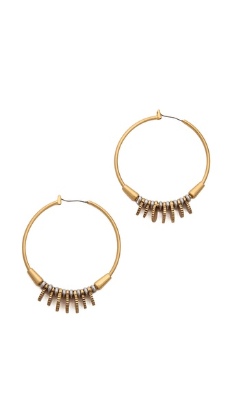 Madewell Coinmix Hoop Earrings