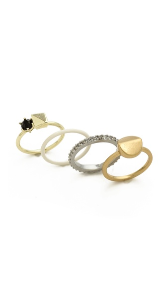 Madewell Facet Stacking Rings