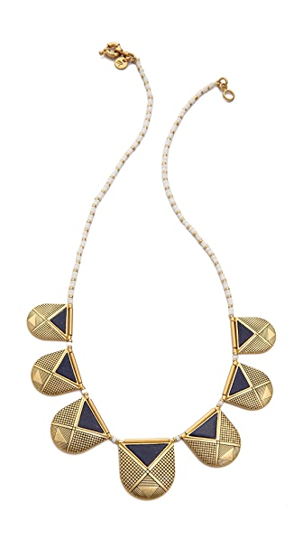 Madewell Lapis Amulet Necklace