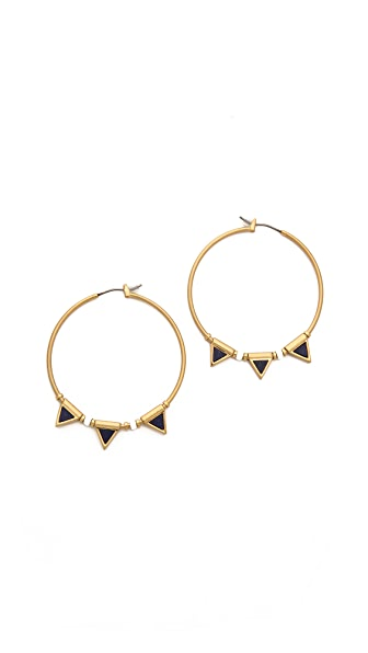 Madewell Lapis Flagpoint Hoop Earrings