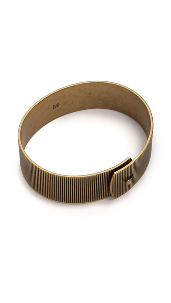 Madewell Line Etch Glider Bangle