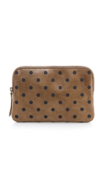 Madewell Medium Pouch with Polka Dots